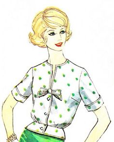 1950s Blouse Pattern Simplicity 3275 Womens Front by paneenjerez, $8.00