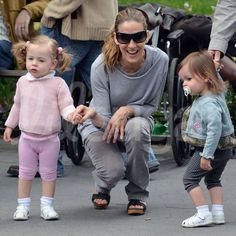 Sarah Jessica Parker played with Tabitha and Marion at an NYC park.