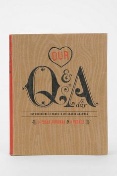 Our Q&A Day Journal - Fun gift for your significant other or for a couple