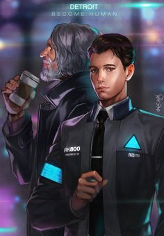 Detroit become human Connor and Hank By: @modas__ds
