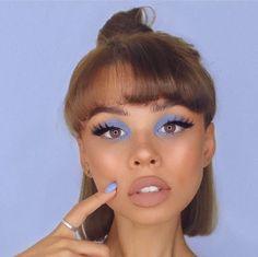 Make Up Fabelhafte Make-ups und Looks, die inspirieren, und Wh Makeup Goals, Makeup Tips, Beauty Makeup, Hair Beauty, Makeup Ideas, Makeup Inspo, Blue Eye Makeup, Skin Makeup, Grunge Eye Makeup