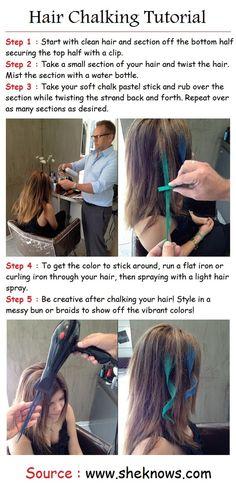 Hair Chalking Tutorial