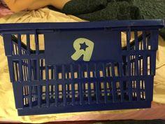 "Toys ""R"" Us shopping basket plastic with handles Toy R, Us Shop, Toys R Us, Plastic Laundry Basket, Organization, Shopping, Getting Organized, Organisation, Tejidos"