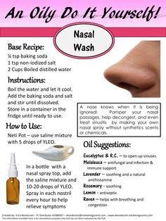 An Oily DIY - Nasal Spray Nasal Wash - Erica Bondurant YL Distributor # 1480957  ebondurant@marketingscents.com #YLEO #anoilydiy