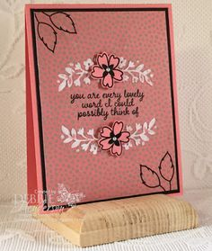 Create with Connie & Mary Saturday Blog Hop featuring Flirty Flamingo. Stampin' Up! Affectionately Yours, Floral Affection Embossing Folder & Love & Affection stamp set. Debbie Henderson, Debbie's Designs.