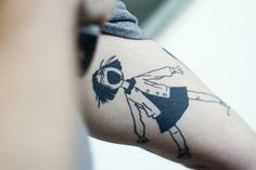 My friend Cameron's stunning tattoo of Ramona Quimby, Age 8.  He also has a fantastic one from James and the Giant Peach.