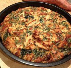 Édesburgonyás-csirkemelles sült fritatta- diétás recept