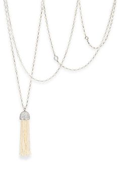 Ivanka Trump 'Tassel' Seed Pearl Necklace (don't look at the price tag)