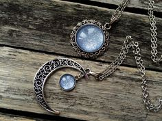 2 Sun and Moon Necklaces matching necklaces by AChicFairytale                                                                                                                                                                                 More