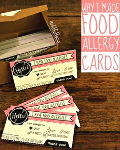 Ordering at a restaurant when you have food allergies can be trying, which is exactly why I made food allergy cards! Check it out and learn how you can make your own. It'… ** Read more info by clicking the link on the image. Tree Nut Allergy, Milk Allergy, Peanut Allergy, Allergy Free, Signs Of Food Allergies, Common Food Allergies, Kids Allergies, Seasonal Allergies, Nut Free Snacks
