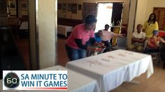 Please note that the descriptions for the various games are general descriptions and the facilitator may alter the game on the day to suit the particular group. In Back Flip the contestants flip pa… Minute To Win It Games, Hands In The Air, Flipping