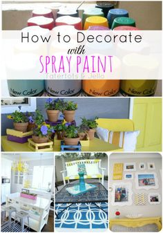 Tons of Ideas for how YOU can decorate with Spray paint!! -- Tatertots and Jello #DIY #homedecor #spraypaint