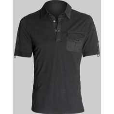 Gothic shop: black polo shirt by Queen of Darkness clothing ($2.85) ❤ liked on Polyvore