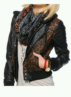 20% off of almost everything until the end of the month. Please view my ebay shop by clicking on this link OBEY VARSITY HOODED JACKET LEOPARD PRINT AND BLACK WOMEN SIZE L NWT FAUX LEATHER