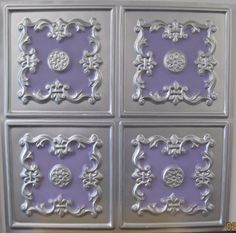 Cheap Decorative Faux Tin Plastic 130 Silver Violet PVC 2x2 Ceiling Tile Can Be Glued on Any Flat Surface UL Rated. ceiling tile,plastic ceiling tiles,ceilings,http://www.amazon.com/dp/B00319P886/ref=cm_sw_r_pi_dp_9pm1sb154KV07FZ1
