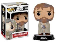 Star Wars The Force Awakens Bearded Luke Skywalker Pop Vinyl Figure