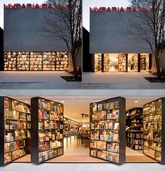 Designed by Isay Weinfeld, Livraria da Vila bookstore in San Paulo, Brazil features creative doors made out of bookshelves. Detail Architecture, Library Architecture, Amazing Architecture, Interior Architecture, Interior And Exterior, Bookstore Design, Library Design, Library Lighting, Movable Walls