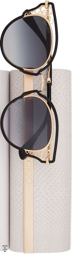 JIMMY CHOO DHELIAS SUNGLASSES AND CASE