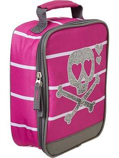 Pink Skull Lunch Tote