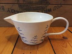 Painted Porcelain Batter Bowl by VAceramics on Etsy