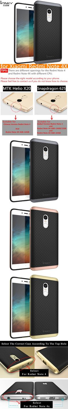 for Xiaomi Redmi Note 4X Case Original iPaky Brand Silicone PC Hybrid Protective Cover for Xiaomi Redmi Note 4x Case Cover