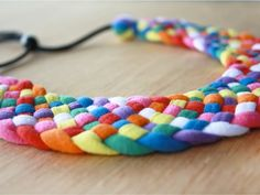 Coalesced textile jewellery - Kireei, cosas bellas