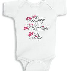 Happy Valentine's day baby onesie