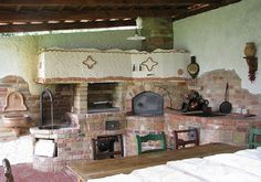 wood fired masonry heater and oven