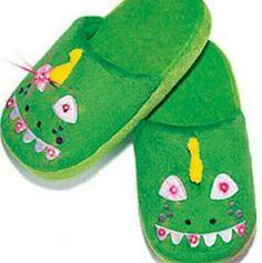 Blinky Dinosaur Slippers for kids New in package. Avon Shoes Slippers