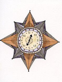 Comment Faire Une Rose Des Vents : comment, faire, vents, Idées, Compas, Vents, Vents,, Boussole,, Tatouages, Boussole