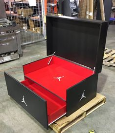 We will build and customize your favorite giant shoe box storage design. Organize your sneaker collection with style, and finesse. For true sneakerheads only. Giant Shoe Box Storage, Big Shoe Box, Small Storage, Shoe Storage, Storage Boxes, Jordan Shoe Box Storage, Storage Ideas, Sneaker Storage, Creative Box