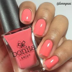 Nail polish swatch of Sweet Cheeks by Bonita Colors
