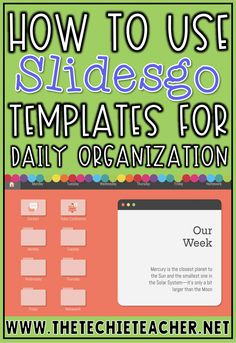 How to Use Slidesgo Templates for Daily Organization – Technology Updated Ideas Daily Organization, Classroom Organization, Classroom Management, Classroom Ideas, Teaching Technology, Educational Technology, Technology Humor, Educational Toys, Special Education