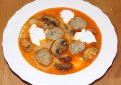 Bakonyi halgombóc-leves   kajakóma receptje - Cookpad receptek Thai Red Curry, Paleo, Fish, Ethnic Recipes, Pisces, Beach Wrap, Paleo Food
