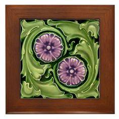 AN017 Art Nouveau Reproduction Antique Tile | Zazzle