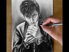 Alex Turner AM Pencil Drawing ( Arctic Monkeys singer ) - YouTube