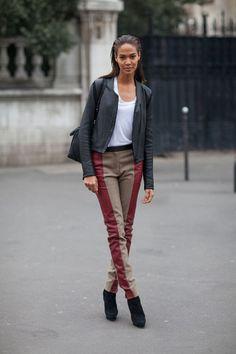 Joan is cool.   Paris Street Style Fall 2013 - Paris Fashion Week Style Fall 2013 - Harper's BAZAAR