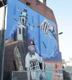 Streetart in Antwerp, in the St. Andries neighborhood.