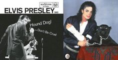 Hound Dog & Black or White ハウンド・ドッグ&ブラック・オア・ホワイト エルビス・プレスリー Elvis Presley マイケル・ジャクソン Michael Jackson  (Black Cat & Black Or White) 【 https://s-media-cache-ak0.pinimg.com/originals/53/72/ff/5372ff5c24b69da70527ba0348adcedd.jpg 】