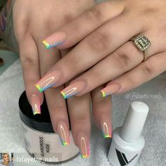 In summer I always like to wear a lot of color on my nails. Not only on my nails but my clothing too haha. So these super cool nails are perfect for upcoming spring and summer. They are colorful but… Cute Acrylic Nail Designs, Best Acrylic Nails, Beautiful Nail Designs, Fake Nail Designs, Painted Acrylic Nails, Art Designs, Nagellack Design, Fire Nails, Rainbow Nails