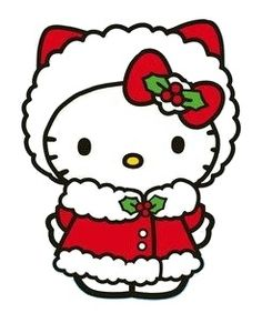 Hello Kitty and like OMG! get some yourself some pawtastic adorable cat apparel! Sanrio Hello Kitty, Hello Kitty Art, Here Kitty Kitty, Princesas Disney Dark, Hello Kitty Imagenes, Hello Kitty Christmas, Hello Kitty Pictures, Christmas Rock, Merry Christmas