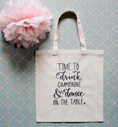 Bachelorette Party, Sweet Script Tote Bag