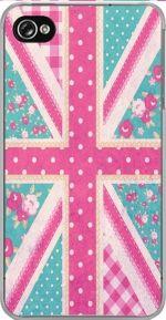 British Girls Flag iPhone Case by Aquarius Girl 19€  #british #girls #flag #cute #dots #stripes #roses #iphone #case #cute
