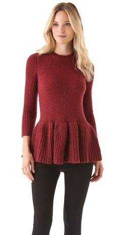 Derek Lam 10 Crosby Peplum Sweater | SHOPBOP