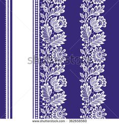 White Lace Seamless Pattern. - stock vector