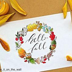 Even here in Sicily summer is fading, so... Hello Fall!  You can find the same wreath in my Redbubble shop (link in BIO)  Anche qui in Sicilia l'estate ci sta lasciando quindi... Ciao Autunno!  Trovate la stessa ghirlanda nel mio shop Redbubble (link in BIO) #hellofall #dndchallenge #wreath #owl #autumn #typography #bulletjournal #bujo #handlettering #handlettered #moderncalligraphy #lettering #calligraphy #calligraphyph #planner #planneraddict #sketch #redbubble #handwriting #handty...