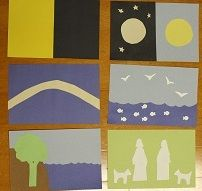 Creation-Young Children and Worship has these templates.  Easy to make!