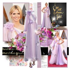 """""""Heidi Klum OSCARS 2016 for March 2nd,2016"""" by konstantinabday26oct72 ❤ liked on Polyvore featuring Marchesa, Charlotte Olympia, men's fashion and menswear"""