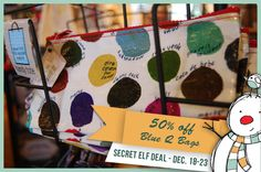 Ask for the Secret Elf Deal December and receive off the Blue Q Bag Collection - All proceeds benefit the Nature Center at Lost River Cave. Lost River, Nature Center, The Secret, Cave, Benefit, Elf, December, Holiday, How To Make