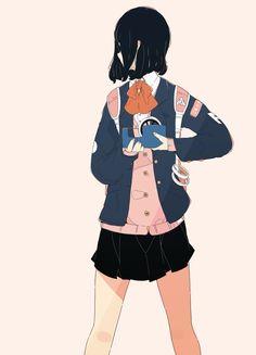 Monochrome Color, Monochrome Fashion, Pink Art, Pastel Art, Retro Aesthetic, Aesthetic Anime, Manga Posen, Manga Art, Anime Art
